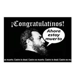 Castro is dead! Postcards (Package of 8)