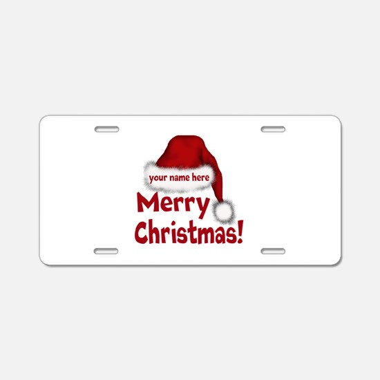 Santa Hat Aluminum License Plate