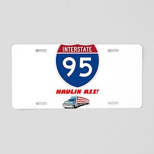 INTERSTAE - I95 - HAULIN' A Aluminum License Plate