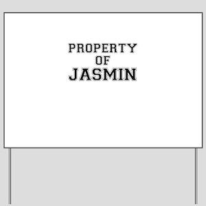 Property of JASMIN Yard Sign