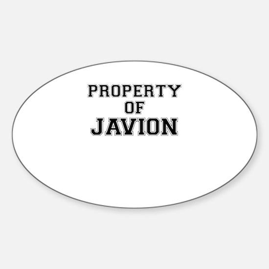 Property of JAVION Decal