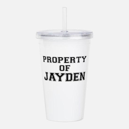 Property of JAYDEN Acrylic Double-wall Tumbler