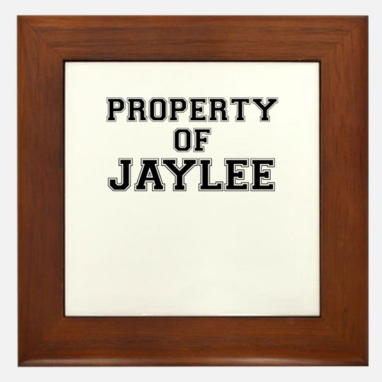 Property of JAYLEE Framed Tile