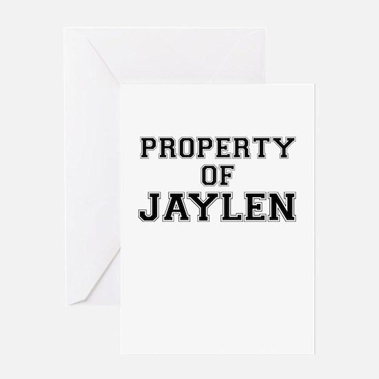 Property of JAYLEN Greeting Cards