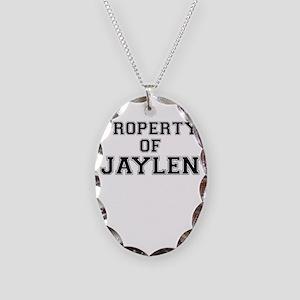 Property of JAYLEN Necklace Oval Charm