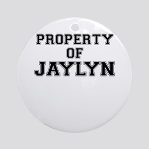 Property of JAYLYN Round Ornament