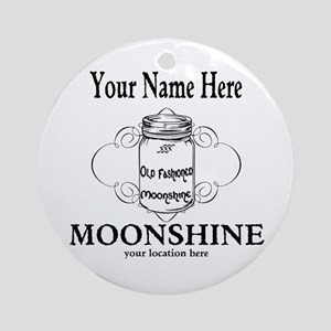 Homemade Moonshine Round Ornament
