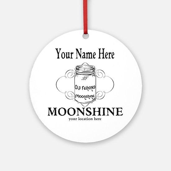 Homemade Moonshine Round Ornament
