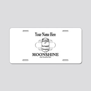 Homemade Moonshine Aluminum License Plate