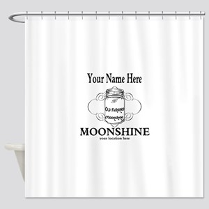 Homemade Moonshine Shower Curtain
