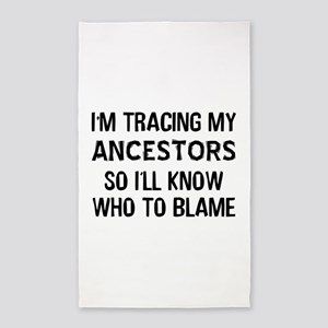 Funny Genealogy Area Rug
