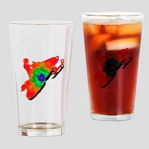 SNOWMOBILER Drinking Glass
