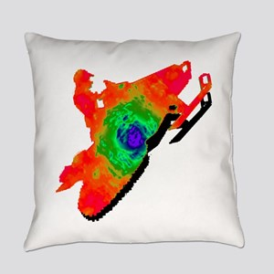 SNOWMOBILER Everyday Pillow