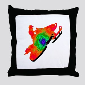 SNOWMOBILER Throw Pillow