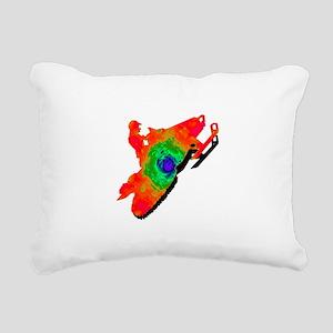 SNOWMOBILER Rectangular Canvas Pillow