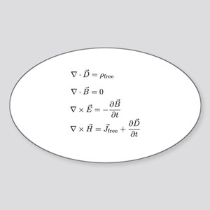 Maxwell's Equations Oval Sticker