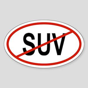 SUV Oval Sticker