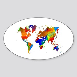Design 33 Colorful World map Sticker