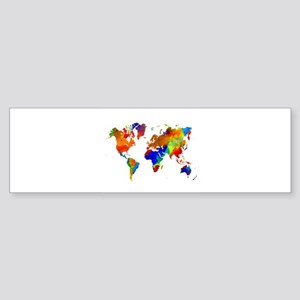Design 33 Colorful World map Bumper Sticker