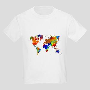 World map kids t shirts cafepress design 33 colorful world map t shirt gumiabroncs Images