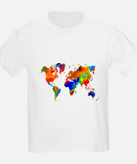 Design 33 Colorful World map T-Shirt