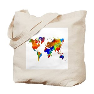 World map canvas tote bags cafepress gumiabroncs Image collections