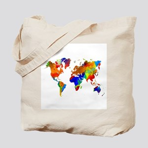 World map bags cafepress design 33 colorful world map tote bag gumiabroncs Gallery