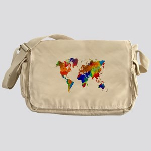 Design 33 Colorful World map Messenger Bag