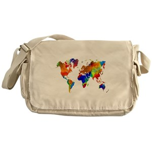World map messenger bags cafepress gumiabroncs Image collections