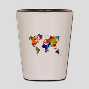 Design 33 Colorful World map Shot Glass