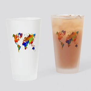 Design 33 Colorful World map Drinking Glass