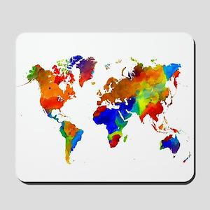 Design 33 Colorful World map Mousepad