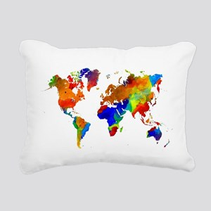 Design 33 Colorful World Rectangular Canvas Pillow