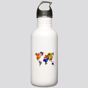 Design 33 Colorful Wor Stainless Water Bottle 1.0L
