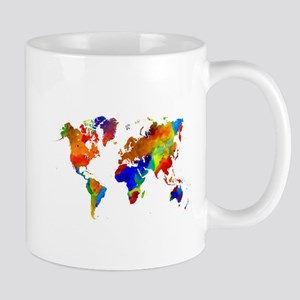Design 33 Colorful World map Mugs