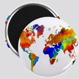 Design 33 Colorful World map Magnets