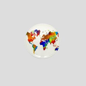 Design 33 Colorful World map Mini Button