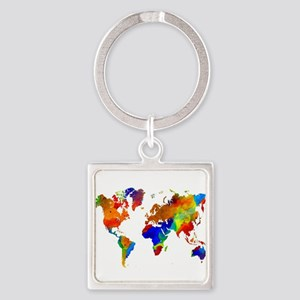 Continents keychains cafepress design 33 colorful world map keychains gumiabroncs Gallery
