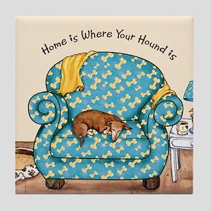 Home Hound Tile Coaster