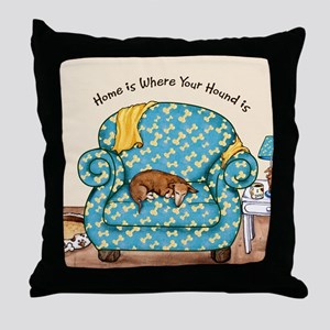 Home Hound Throw Pillow