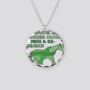 Unicorns Support Traumatic B Necklace Circle Charm