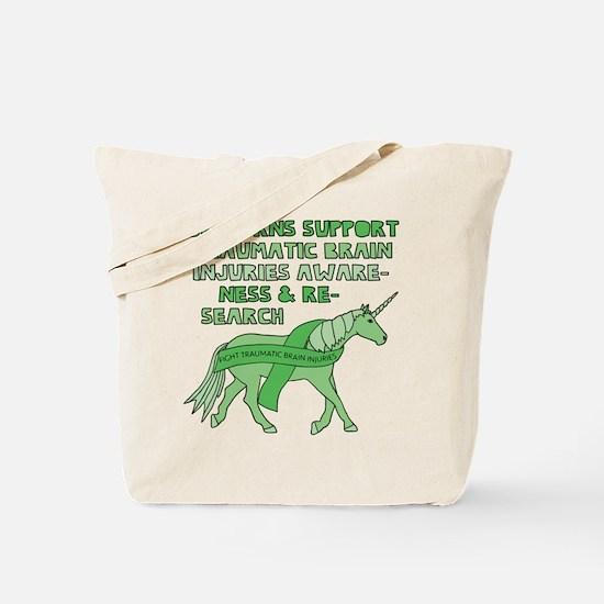 Unicorns Support Traumatic Brain Injuries Tote Bag