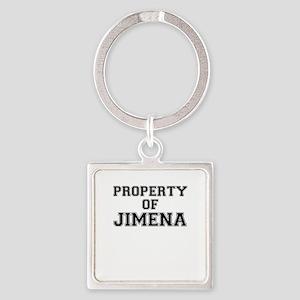 Property of JIMENA Keychains