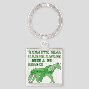 Unicorns Support Traumatic Brain Injurie Keychains