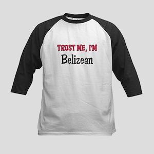 Trusty Me I'm Belizean Kids Baseball Jersey