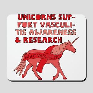 Unicorns Support Vasculitis Awareness Mousepad
