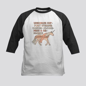 Unicorns Support Uterine Cancer Aw Baseball Jersey