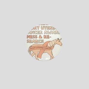 Unicorns Support Uterine Cancer Awaren Mini Button