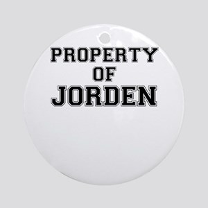 Property of JORDEN Round Ornament