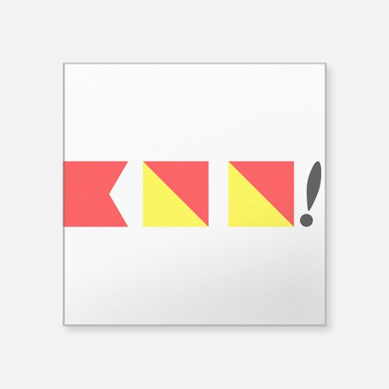 "Boo! Nautically Speaking Square Sticker 3"" x 3"""
